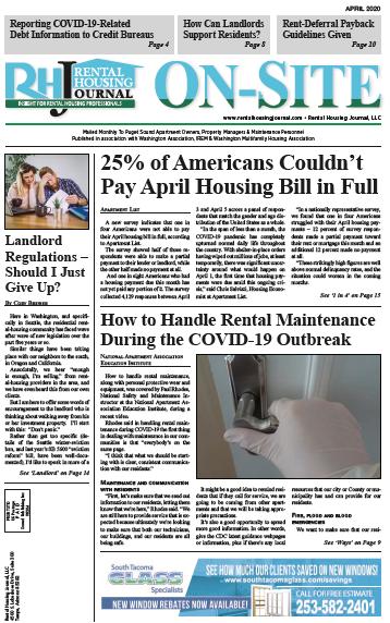 April Washington Seattle Rental Housing Journal