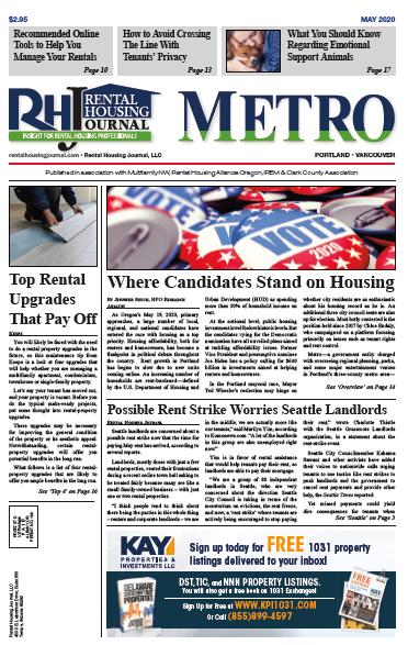 Portland Metro Rental Housing Journal May 2020