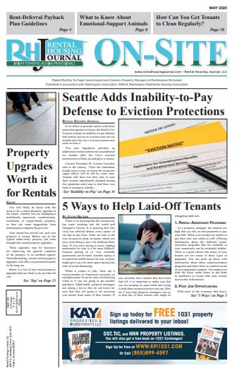Seattle Washington On-Site Rental Housing Journal May 2020