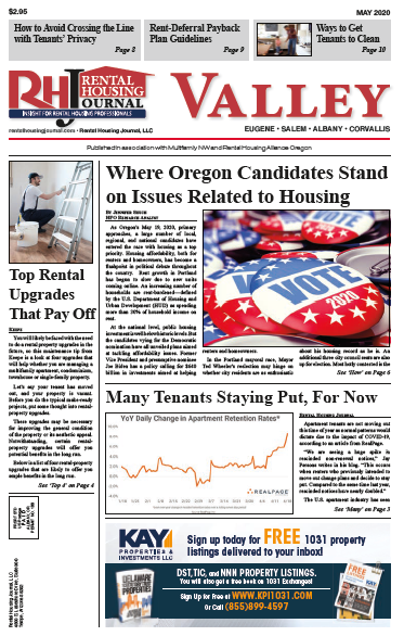 Rental Housing Journal Oregon Valley May 2020