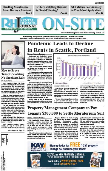 Seattle Washington On-Site Rental Housing Journal June 2020