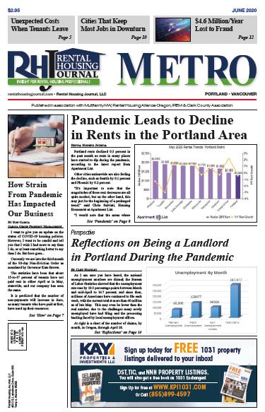 Rental Housing Journal Portland Metro June 2020