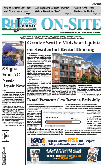 Rental Housing Journal On-Site Seattle Puget Sound Edition July 2020