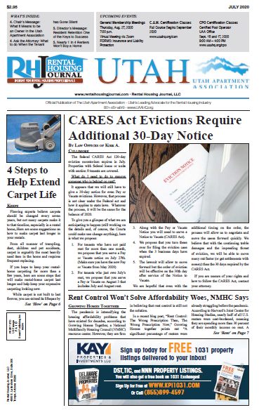 Utah Rental Housing Journal July 2020