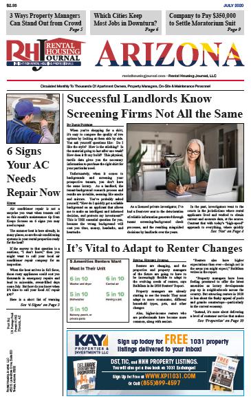 Arizona Rental Housing Journal July 2020