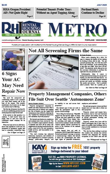 Metro Portland Rental Housing Journal July 2020