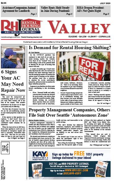Oregon Valley Rental Housing Journal July 2020