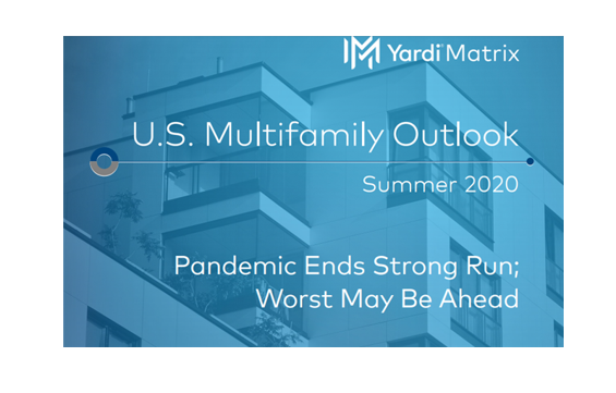 Yardi Matrix multifamily outlook for the summer of 2020 shows more pain ahead for the rental housing industry