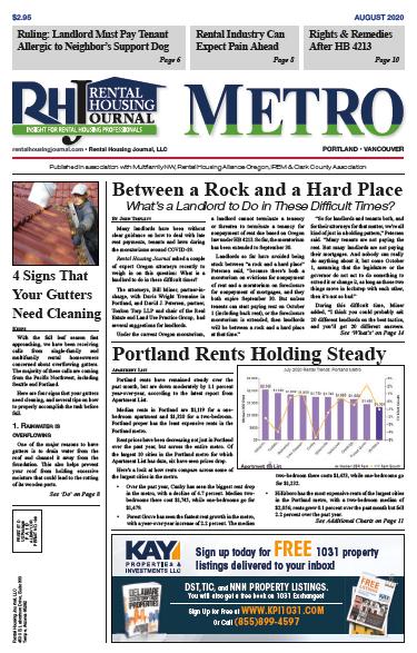 Metro Portland Rental Housing Journal August 2020