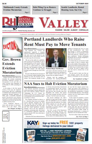 Oregon Valley Rental Housing Journal October 2020