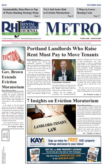 Portland Metro Rental Housing Journal October 2020