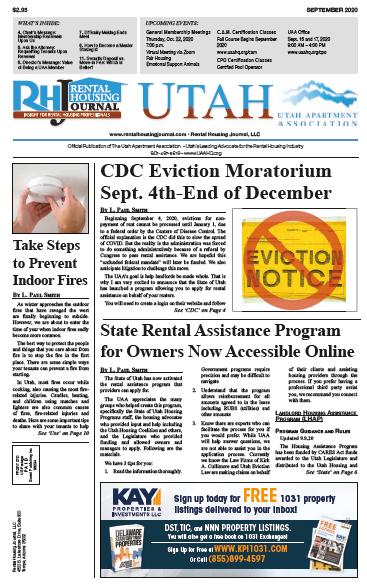 Utah Rental Housing Journal September 2020