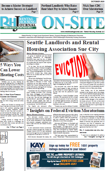 Seattle On-Site Rental Housing Journal October 2020