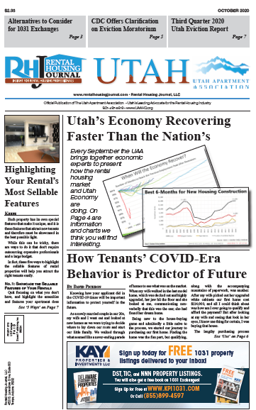 Utah Rental Housing Journal October 2020