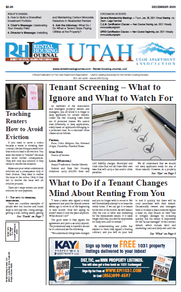 Utah Rental Housing Journal December 2020