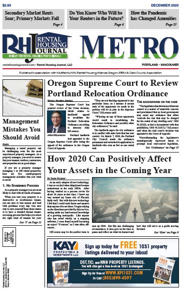 Portland Metro Rental Housing Journal December 2020