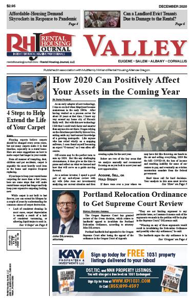 Oregon Valley Rental Housing Journal December 2020