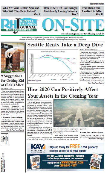 Seattle On-Site Rental Housing Journal December 2020