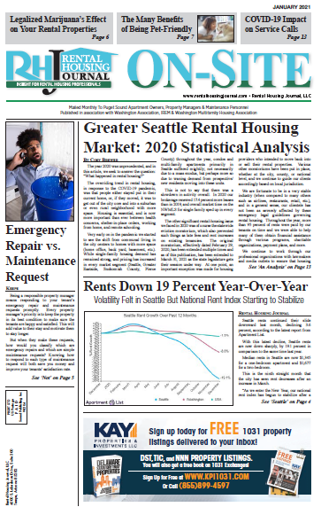 Rental Housing Journal Seattle On-Site Puget Sound Edition January 2021