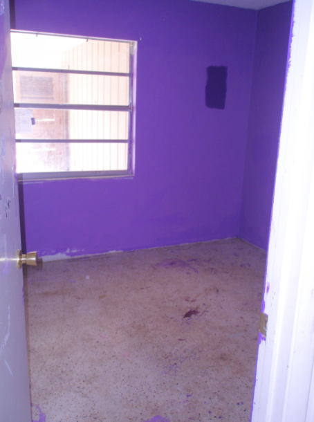 damaged carpet found during duplex renovation. renovate a rental property