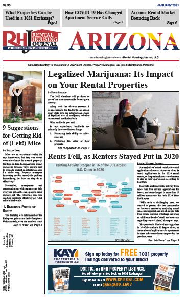 January 2021 Arizona Rental Housing Journal