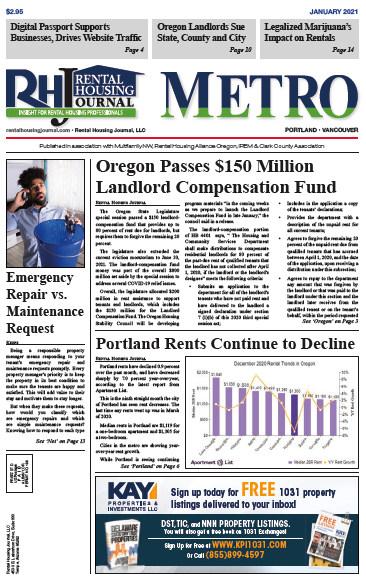 Rental Housing Journal Portland Metro January 2021