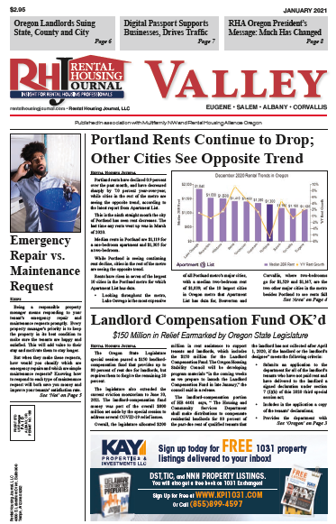 Rental Housing Journal Oregon Valley January 2021