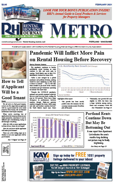 Rental Housing Journal Metro Portland Oregon February 2021