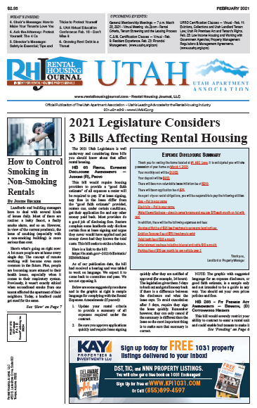 Utah Rental Housing Journal February 2021