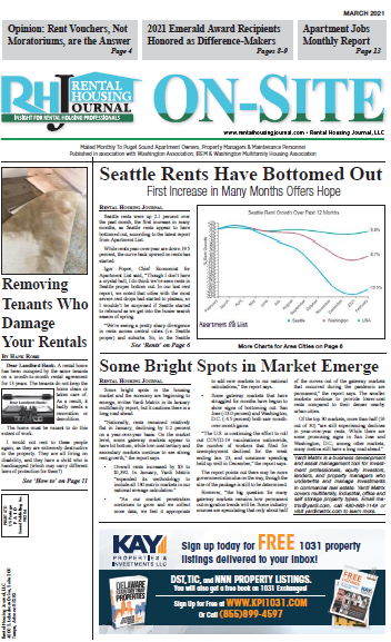 Seattle On-Site Rental Housing Journal March 2021