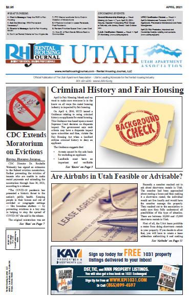Utah Rental Housing Journal April 2021