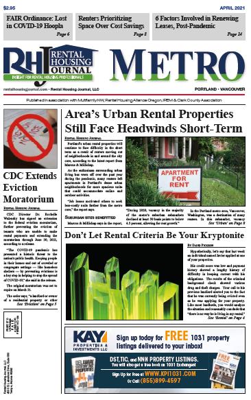 Oregon Metro Rental Housing Journal April 2021