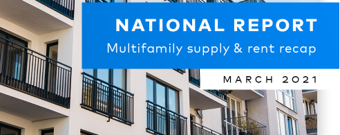 multifamily market report on rent growth for first quarter 2021