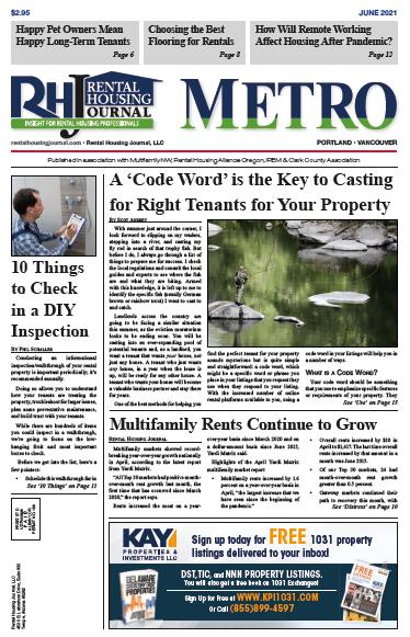 Oregon Metro Portland Rental Housing Journal June 2021