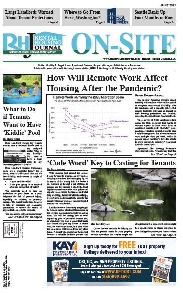 Seattle On-Site Puget Sound Edition Rental Housing Journal June 2021