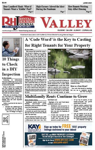 Oregon Valley Rental Housing Journal June 2021