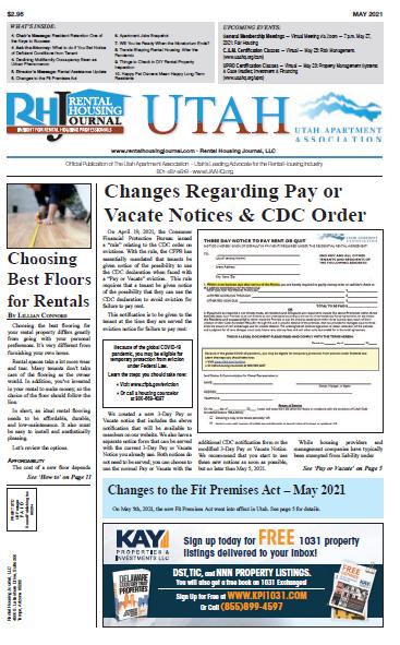 Utah Rental Housing Journal May 2021