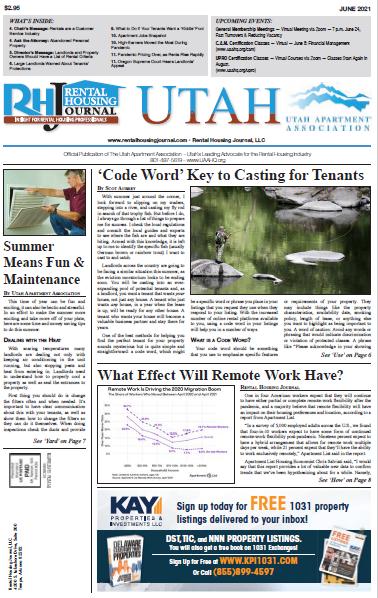 Utah Rental Housing Journal June 2021