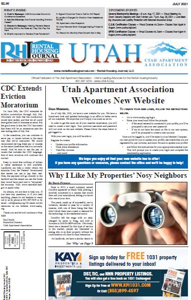 Utah Rental Housing Journal July 2021