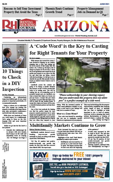 Arizona Rental Housing Journal June 2021