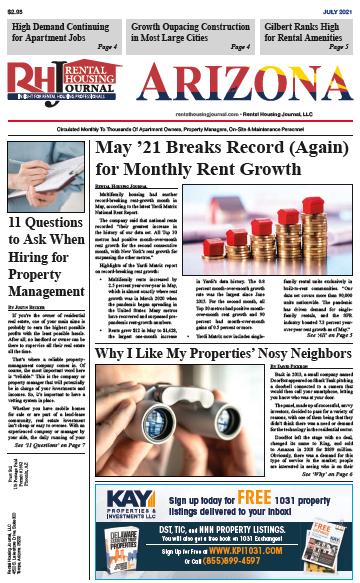 Arizona Rental Housing Journal July 2021