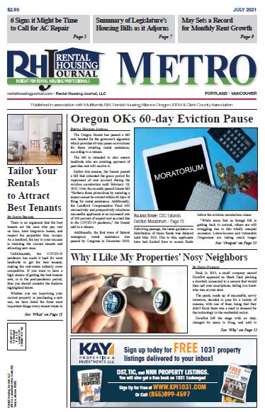 Rental Housing Journal Metro Portland July 2021