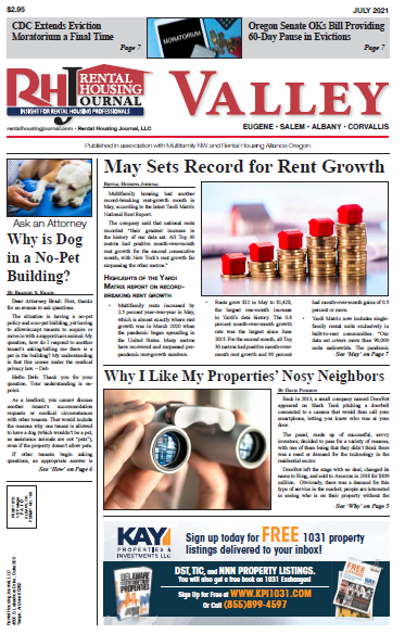 Rental Housing Journal Oregon Valley July 2021