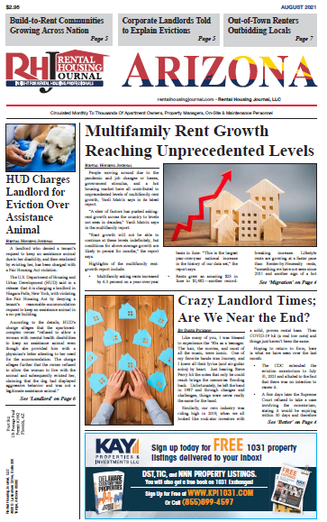 Rental Housing Journal Arizona August 2021