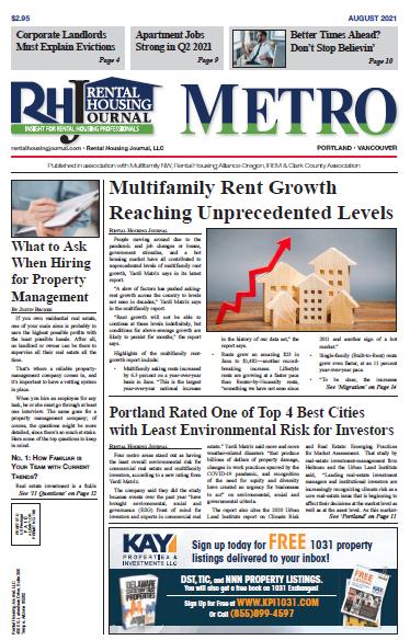 Portland Metro Rental Housing Journal August 2021