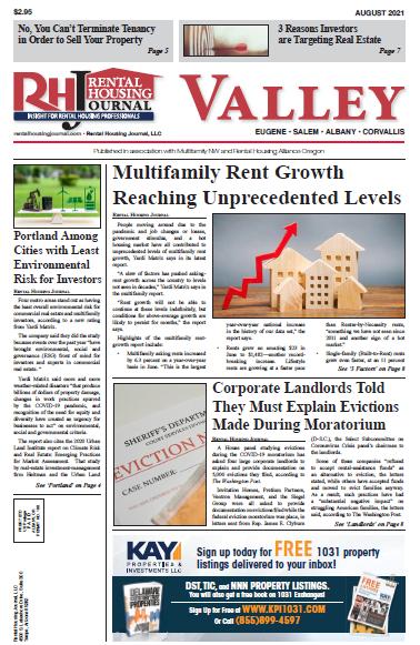 Oregon Valley Rental Housing Journal August 2021