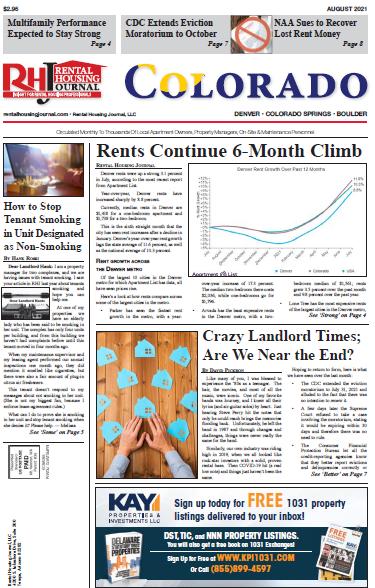 Colorado Rental Housing Journal August 2021