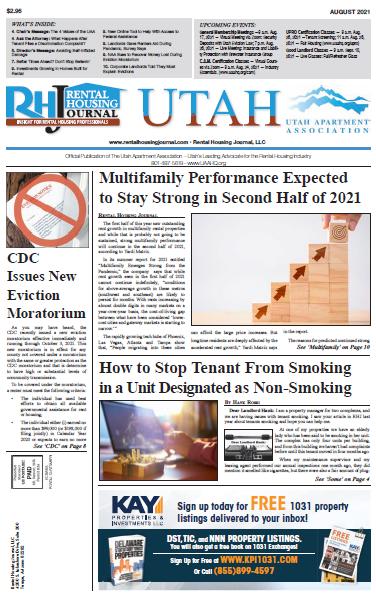 Utah Rental Housing Journal August 2021