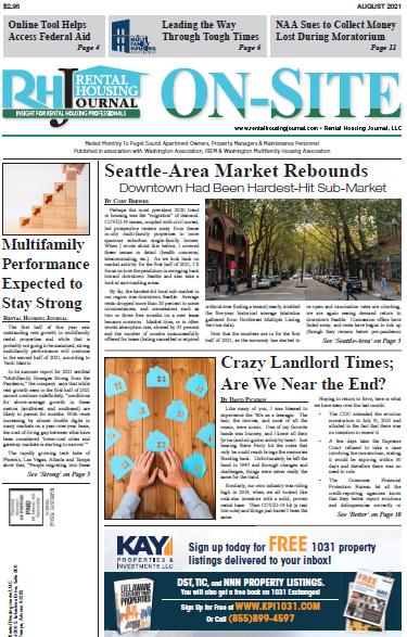 Seattle On-Site Rental Housing Journal August 2021