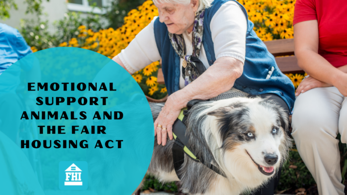 Emotional Support Animals and the Fair Housing Act